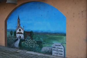 Raffigurazione del Santuario della Madonna di Casaletto