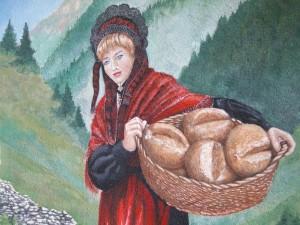 Un bel cesto di pane.