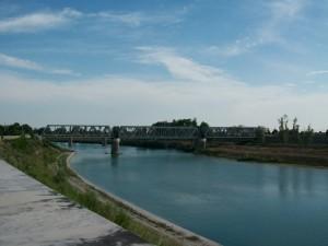 Dal centro  di Latisana verso il ponte