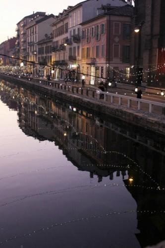 Milano - Sul naviglio a Natale