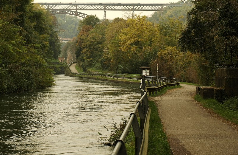 ''Passeggiando verso il ponte'' - Paderno d'Adda