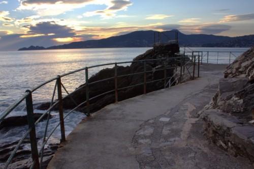 Zoagli - Tramonto sul mare.