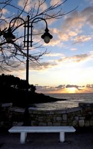 Il tramonto da Via del Mare.