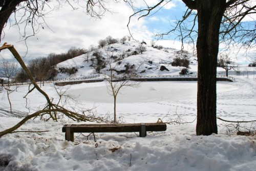 Acuto - Panchina al freddo