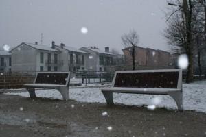 Una giornata  invernale con fiocchi di neve