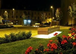 Panchina illuminata