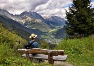 Riposo o in ammirazione per il panorama? Turista fai da te?