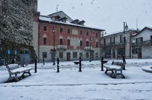 "Nevicata ""piazza Frigerio - Brivio"