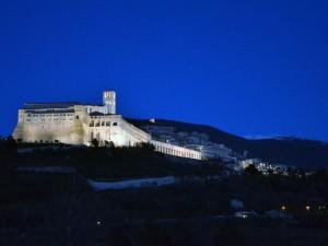 Assisi quando scende la sera