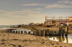 in riva alla spiaggia