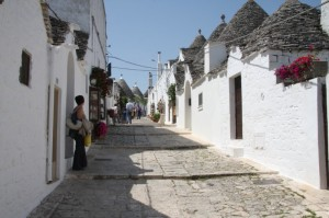 uno scorcio su Alberobello Ba