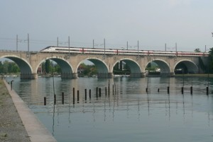 Frecciabianca sul ponte