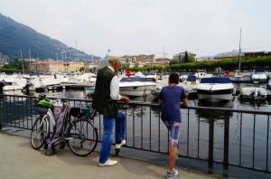 Bici attrezzata per la pesca