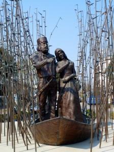 Garibaldi e Anita in fuga attraverso le Valli di Comacchio