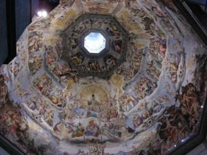 La volta della cupola con il Giudizio Finale.