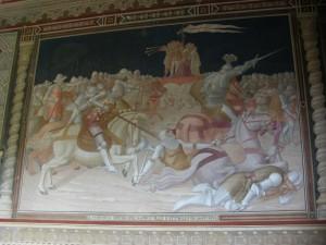 Affresco del salone del castello dei Malaspina