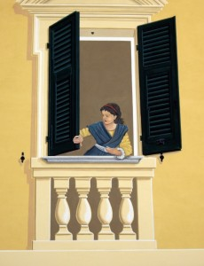 La ragazza alla finestra