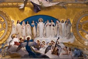Santa Venera nella gloria delle vergini