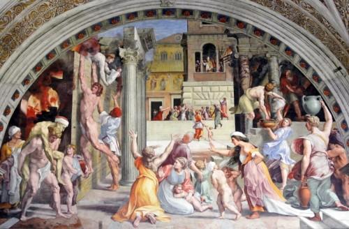 Roma - L'incendio di Borgo