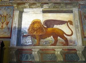 Il leone, simbolo  sovrano.