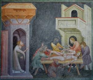 scuola giottesca per l'affresco il Martirio di S. Bartolomeo