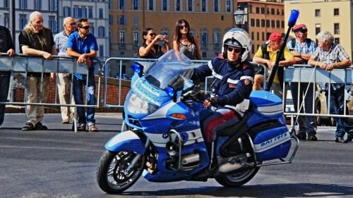 Firenze - Moto di staffetta dei Mondiali di Ciclismo