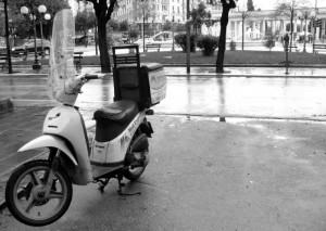 Moto-mailexpress in Piazza Cavour