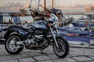 Moto al porto