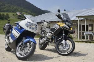 In moto alla malga di Prà Alpesina